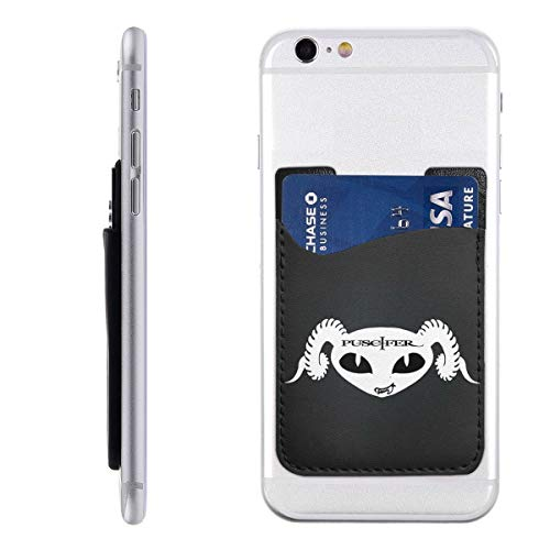 Puscifer Card Holder for Back of Phone, Cell Phone Card Holder, 3M Adhesive Ultra Slim Phone Pocket ID Credit Card Holder Sleeves Pouch Compatible iPhone Samsung Galaxy, All Smartphones