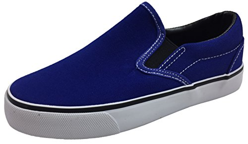 Toddler Classic Slip On Canvas Sneaker Tennis Shoes, Royal Blue, 7 Toddler