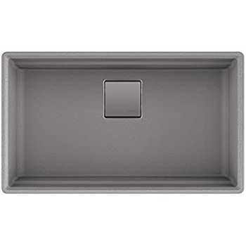 franke granite kitchen sinks franke pkg11031shg peak 32 quot undermount single bowl granite 3522