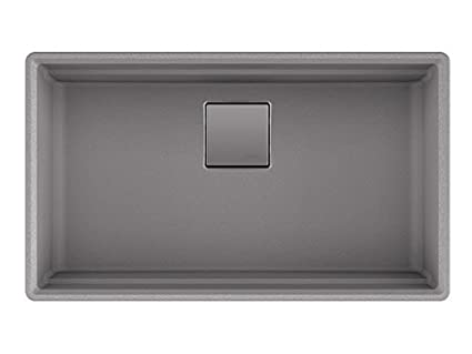 Franke PKG11031SHG Peak 32u0026quot; Undermount Single Bowl Granite Kitchen Sink