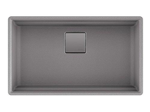 Franke PKG11031SHG Peak 32 Inch Undermount Single Bowl Granite Kitchen Sink in Shadow Grey, 32 x 18.75 x 9, Gray