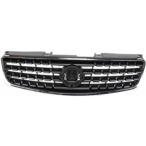 Grille for Nissan Altima 05-06 Chrome Shell/Painted-Dark Gray Insert