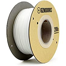 Gizmo Dorks Nylon Filament for 3D Printers 1.75mm 200g, Natural Clear