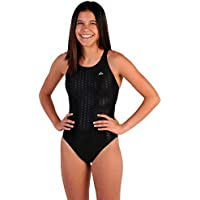 Flow Girls Swimsuit - One Piece Racerback Competitive Swim Suit Kids Sizes 23 to 30 in Black, Navy, and Blue