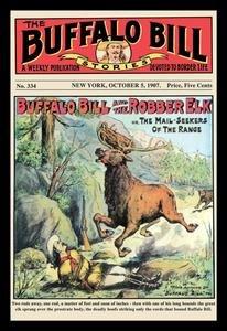 (The Buffalo Bill Stories: Buffalo Bill and the Robber Elk Fine art canvas print (20
