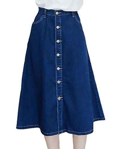 Button Down Cotton Skirt - 5