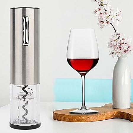 Regun Botella de Vino abridor, Botella Gris Original Sacacorchos Sacacorchos eléctrico automático del abrelatas del Vino Kit de Teléfono Inalámbrico