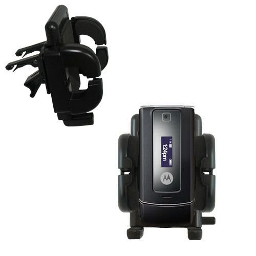 Innovative Vent Cradle Vehicle Mount designed for the Motorola W385 - Adjustable Vent Clip Holder for Most Car / Auto Vent ()