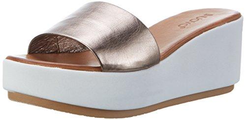 Inuovo 7112, Sandalias con Plataforma para Mujer Silber (Pewter)
