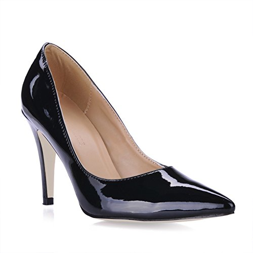 Click women fall new products in the tips of the women's large black pearl the the high-heel shoes Black oibbY71TR