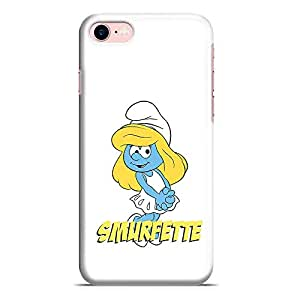 Loud Universe Smurfette iPhone 8 Case White Cute Smurf iPhone 8 Cover with 3d Wrap around Edges