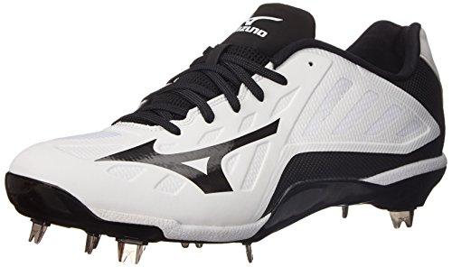 Mizuno Herren Heist IQ Baseballschuh Weiß schwarz