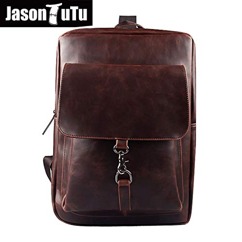 Amazon.com: Men Backpack Leather School Bags Mens Travel Rucksack 2018 Preppy Style Daily Black Back Pack Mochila B104: Kitchen & Dining