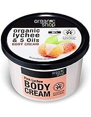 Organic Shop, Body Cream Pink Lychee Lychee 5 Oils 250 ml, lavendel, 250 ml