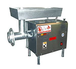 Bench Meat Grinder w/ Large Guarded Feed Throat, 650-lb Hour, 110 V
