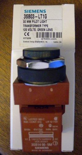Siemens 3SB03-LT1G 30MM Pilot Light Transformer Type 120 Volts, Green lens ()
