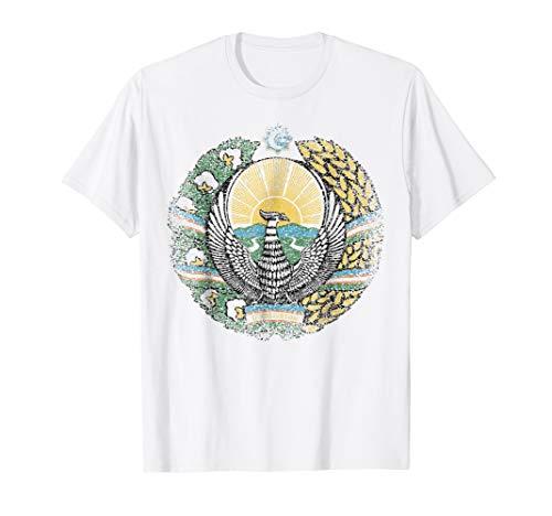 - Uzbekistan Coat Of Arms T Shirt National Emblem tee
