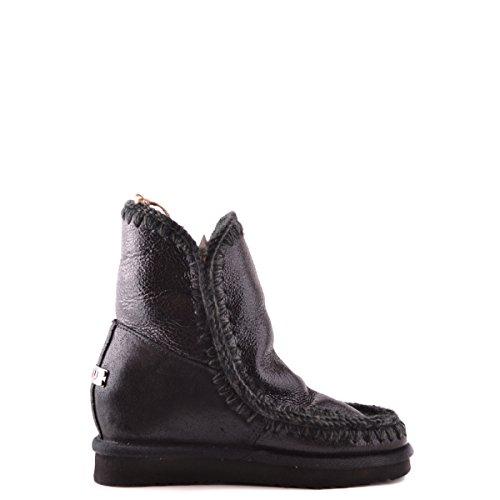 Mou Botas Eskimo Boot Wedge Antique Silver negro