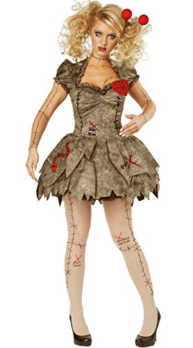 Cheap Creative Ideas For Halloween Costumes (California Costumes Women's Voodoo Dolly Costume, Tan,)