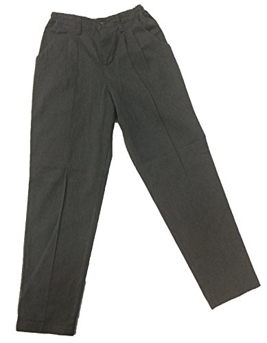 fit Plisado Relaxed Carbón Pantalones Heather Lee Mujer WZaBnfE