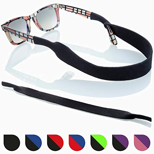 Sunglass Glasses Strap - 2 Pack Sport Eyewear Retainer - Anti Slip Fast Drying - Fits All ()