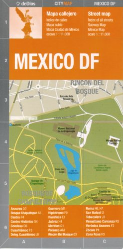 Mexico City Mexico Df Street Map By De Dios Spanish And