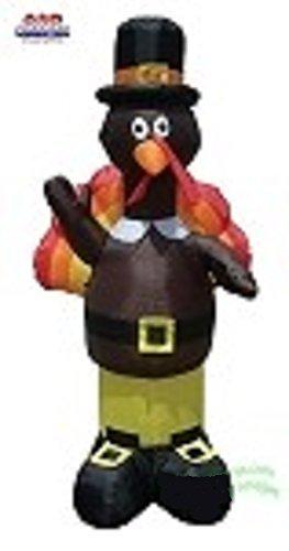Thanksgiving Airblown Inflatable 7' Standing Pilgrim Turkey