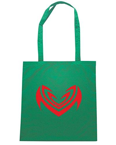 T-Shirtshock - Bolsa para la compra FUN0451 2280 tribal sticker design 12 62107 Verde