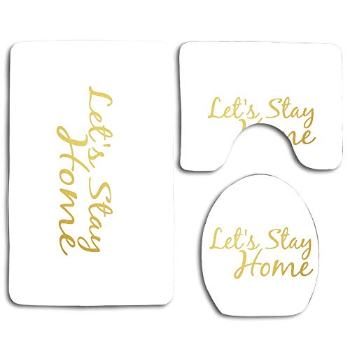 NEWcoco 3PCS Toilet Carpet Mats Seat Cushion Cover Doormat Let's Take A Hike(1)