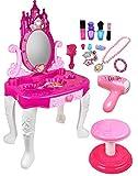 Kiddie Play Pretend Play Kids Vanity Table and