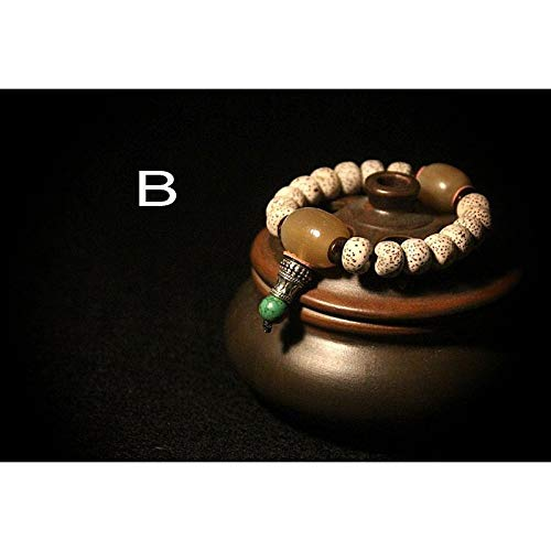 Natural Seed Beads Bracelet | Antique Tibetan Jewelry | Buddhist Lucky Charm Tibetan Bracelets | for Men and Women (typeB)
