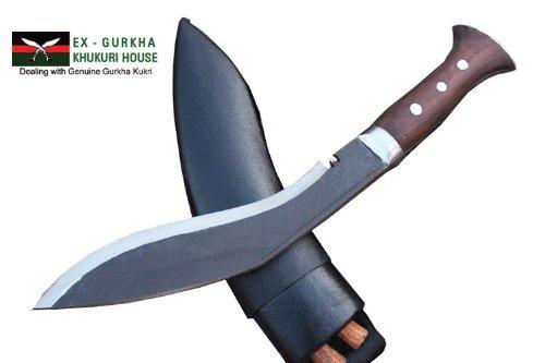 Genuine Gurkha Full Tang Blade Rust Free Kukri Knife – 10 Blade Panawal Angkhola Village Farmer Kukri – Handmade By Ex Gurkha Khukuri House in Nepal