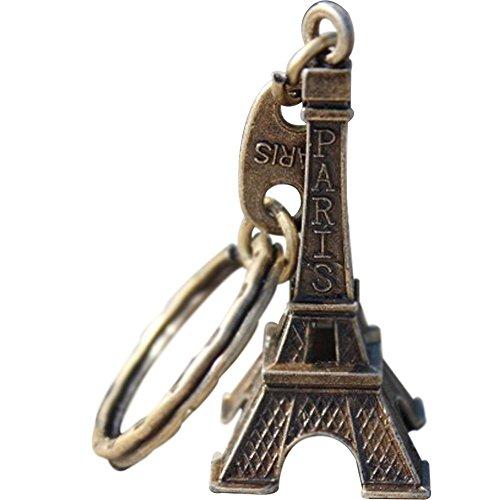 Amazon.com   DKX Zinc Alloy Mini Paris Eiffel Tower Model Keychain Keyring  Keyfob Gift Metal Split Key Ring-Bronze   Office Products 1385f2ca33f6