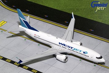 Gemini Jets Westjet Boeing 737 MAX 8 1:200 Scale Model Die-Cast Part# (Boeing Jet)