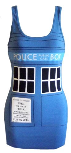 Doctor Who Tardis Blue Tank Dress  – Currently unavailable.