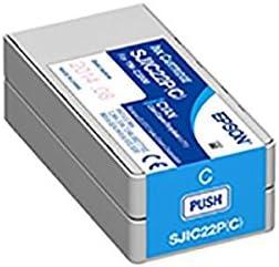 (業務用5セット) 〔純正品〕 EPSON エプソン インクカートリッジ 〔SJIC22PC シアン〕