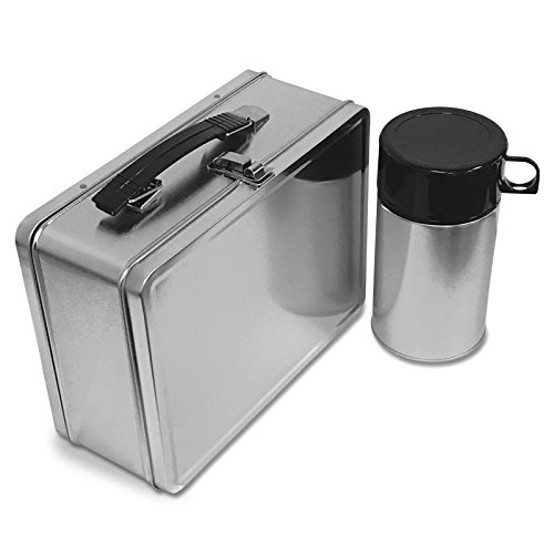 - Plain Metal Lunch Box and Thermos