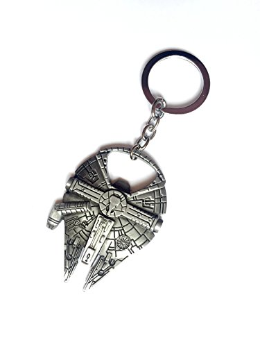 AsteriatedTM Star Wars Millennium Falcon Bottle Opener Key Chain (Silver grey) (Starwars Bottle Openers compare prices)