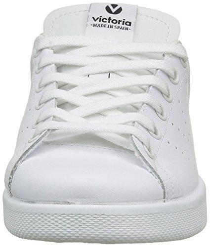 Victoria Deportivo Basket Piel - Zapatillas de Deporte Unisex Blanco y Negro Brillante (Negro 10)