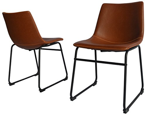 Best Quality Furniture (Brown Leather Side Chair)