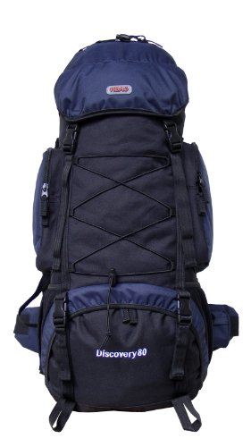 Discovery 80 Internal Frame Camping Hiking Backpack (Navy), Outdoor Stuffs