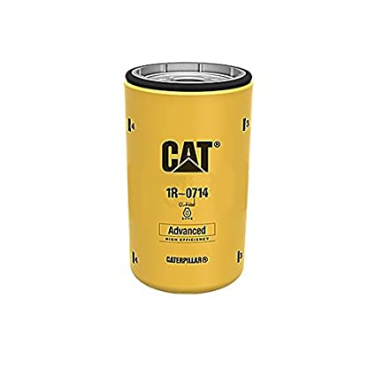 Caterpillar 1R0714 1R-0714 Engine Oil Filter Advanced High Efficiency  Multipack (Pack of 2)