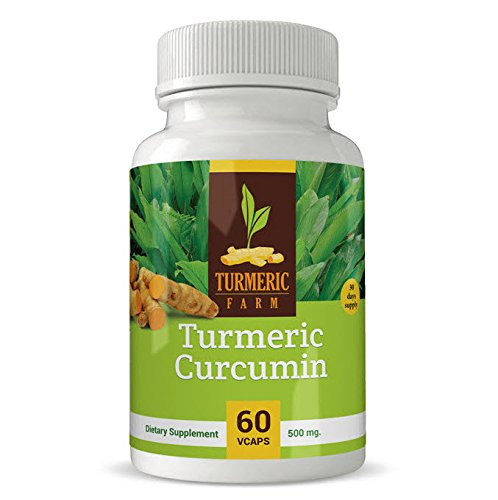 Turmeric Farm Organic Turmeric Curcumin 60 Capsules Dietary Supplement | Highly Potent & Absorbent Formula Suitable For Vegans | Promote Skin & Joint Health, Fight Inflammation & Boost Immune System