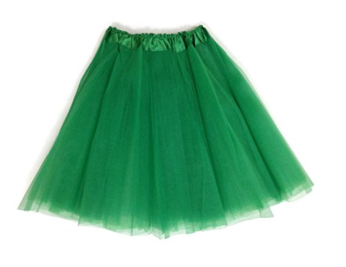 [Rush Dance Adult Costume Ballet Warrior Kelly Green St Patrick's Day Parade Tutu] (St Patrick Day Costumes Plus Size)