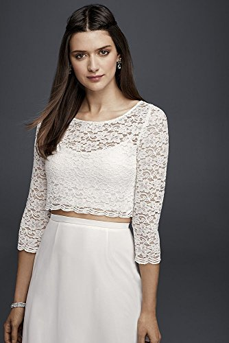 Wedding-Dress-Lace-Wedding-Crop-Top-with-34-Length-Sleeves-Style-183599DB