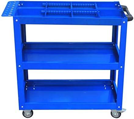 工具箱 耐久性と頑丈なツールトロリー多機能バリアハードウェアツールの三層構造の部品は組み立て保守売上高のトロリーカート 高耐久型 (Color : Blue, Size : 75x35x75cm)