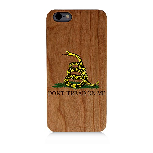 Don't Tread On Me Patriotic Uv Print Cherry Wood Natural Wooden CaseProtective iPhone 7 Plus