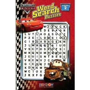 The World Of Cars Word Search Puzzles