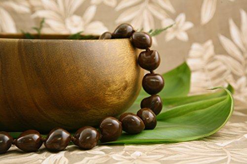 Hawaiian Kukui Nut Lei Necklace- Brown