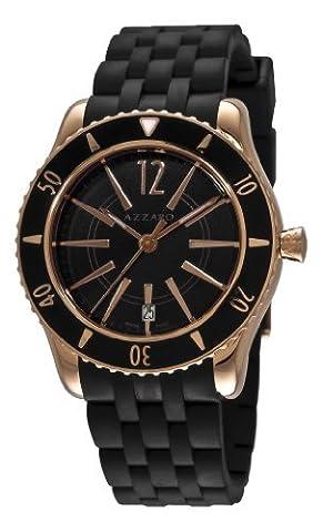 Azzaro Men's AZ2200.52BB.05B Coastline Rose PVD Black Rubber Strap Watch (Azzaro Men Quartz)